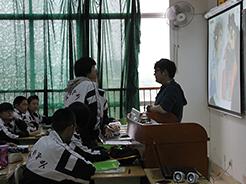 广州、石家庄两地英语教师到我校观摩《典范英语》教学交流活动
