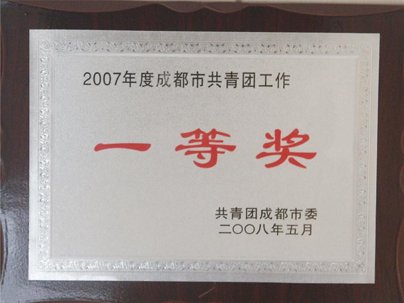 2007年共青团工作一等奖